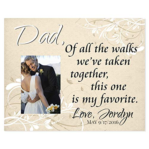 Dad Of All The Walks We've Taken Together Personalized Picture Frame For A 5x7 Photo