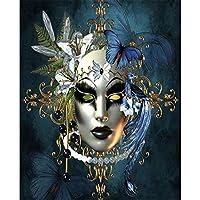 5DDIYダイヤモンド絵画「バタフライマスク」3Dラインストーン刺繡クロスステッチ5D室内装飾ギフト-40x50cm