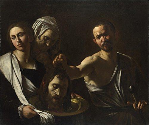 Das Museum Outlet–Michelangelo Merisi da Caravaggio–Salome empfängt die Head of St. John the Baptist, gespannte Leinwand Galerie verpackt. 29,7x 41,9cm