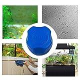Wankd - Mini cepillo magnético para acuario, mini limpiador portátil para peces, cristal, imán, cepillo de plástico, cepillo de limpieza magnético, Azul