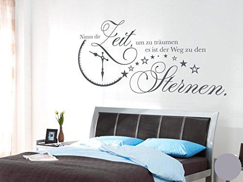 Klebefieber Wandtattoo Nimm Dir Zeit B x H: 120cm x 60cm Farbe: Silber