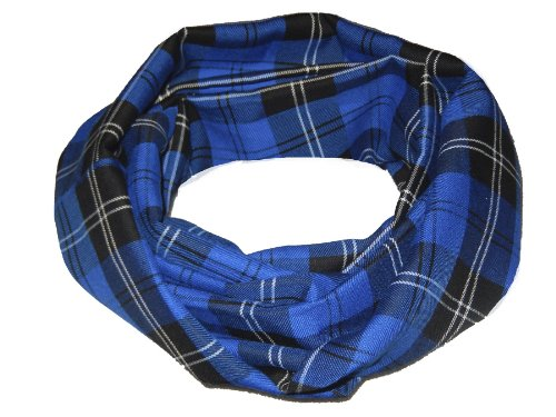 Fruit of the Loom Burns Night Écharpe écossaise en tweed Tartan chaud - Bleu - Taille unique