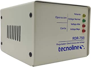 Tecnoline® RDR-750i Regulador de Voltaje, Exclusivo Refrigeración, Lavadoras. 750W, 80J, con Límites y Retardo para Protec...