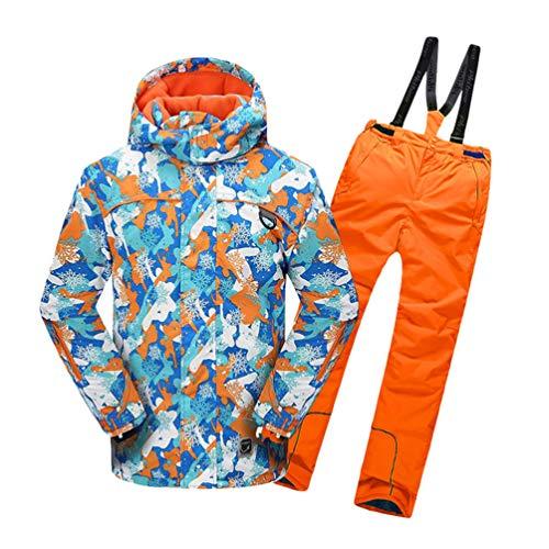 Lvguang Jungen & Mädchen Berg Wasserdicht Warm Skibekleidung Winddicht Regen Schnee Kapuzenjacke & Skihose (Orange#5, Asia 3XL)