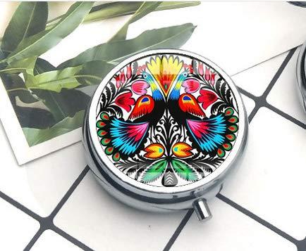 Collar con colgante de patrón de arte folclórico tradicional con diseño de...
