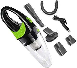 ZJLALQXCQ Handheld vacuum cleaner, portable vacuum cleaner cordless cleaner 120W 4000PA strong suction auto vacuum cleaner...