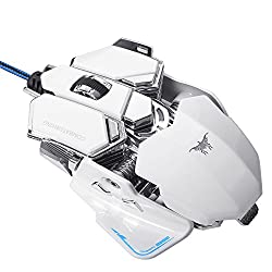 XCSOURCE Combaterwing 4800 DPI Programmierbare 10 Tasten RGB LED Gaming Maus TH249