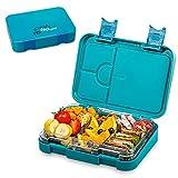 schmatzfatz junior Kinder Lunchbox, Bento Box mit variablen Fächern (Petrol)