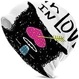 Sombrero Unisex Gorrita Tejida Sombreros de Punto Gorra de Calavera, Ilustración de la Vida submarina en el Estilo de los Animales étnicos de Zentangle
