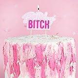 Miss Lovely Vela de cumpleaños para tarta de cumpleaños, decoración de tarta...