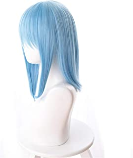 Xingwang Queen Anime 40cm Short Straight Light Blue Cosplay Wig Women Girls' Party Wigs