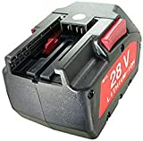 Batería para Milwaukee M28, Würth 0700 956 730, 28 V, 3000 mAh, Ion de Litio