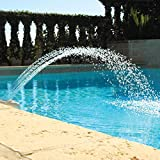 Waterfall Pool Fountain Spray Water Adjustable Fun Sprinklers Pool Decor, Fits Most 1.5' InGround & Above Ground Threaded Return Jets