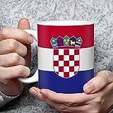 Geschenk Tasse mit Flagge Kroatien Länder Flaggen Geburtstagsgeschenk Souvenir Croatia für Reiseliebhaber Frauen Männer