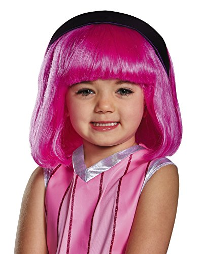 Lazytown Stephanie Pink Costume Wig Child