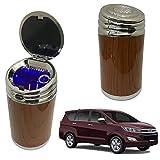 Oshotto High Temperature Portable Wooden Design Car Ashtray for Toyota Innova