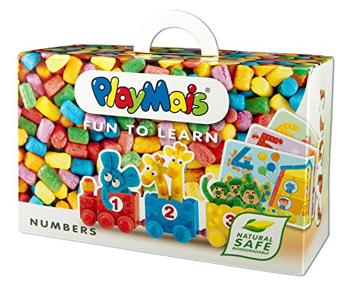 PlayMais Fun to Learn Numbers Jouet éducatif pour Les Enfants à partir de 3 Ans | kit de Loisir créatif avec 550 pièces, 14 modèles et Instructions pour Le Bricolage | créativité et motricité