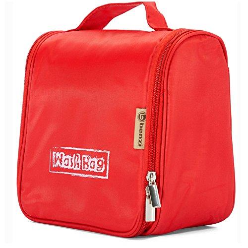Benzi–Mittelgroße stylische Unisex zum Aufhängen Kulturbeutel Washbag–Toiletry Tasche–verschiedene Farben, 01 - RED (Mehrfarbig) - BZ-4570
