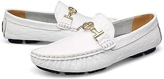 Classique Oxford Mocassins Chaussures Habillées De Mode Pour Hommes Excellente Doux Mocassin Bateau En Peau De Crocodile S...