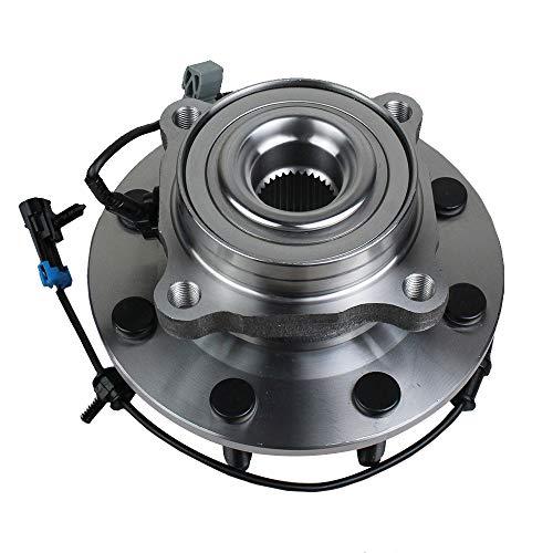 Autoround 515098 Front Wheel Hub and Bearing Assembly for Chevy Silverado/GMC Sierra 2500 3500 HD, Hummer H2, Suburban/Yukon XL 2500, 8 Lug w/ABS