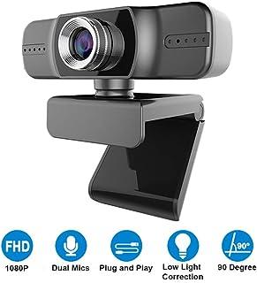 Yieye cámara Web Digital con micrófono para videoconferencia grabación y transmisión visión extendida de 90 Grados cámara de transmisión en Directo para PC portátil y Escritorio