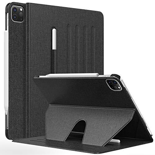 MoKo Hülle Kompatibel mit iPad Pro 11 2021, Magnetische Schutzhülle Stifthalter Auto Schlaf/Wach, Rutschfest Multi-Winkel Ständer Kompatibel mit iPad Pro 11 2021, Schwarz