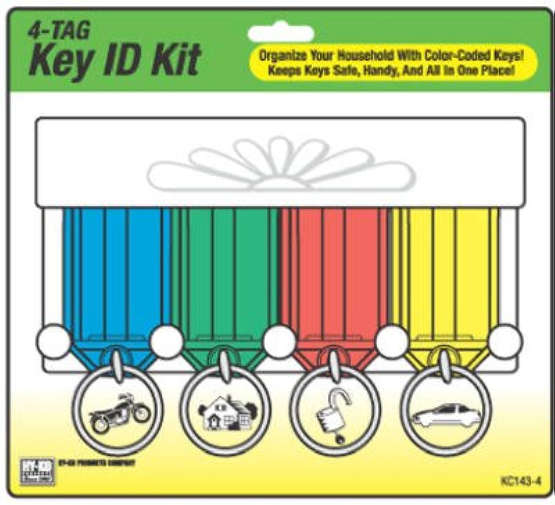 Hy-Ko Prod KC143-4 4 Key Tag Rack - Quantity 5