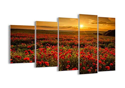 Quadro su Vetro - Cinque 5 Tele - Larghezza: 150cm, Altezza: 100cm - Numero dell'immagine 3643 - Pronto da Appendere - Elementi Multipli - Arte Digitale - Moderno - Quadro in Vetro - GEG150x100-3643
