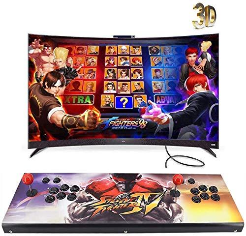 JFZCBXD 3D Console de Jeu 2350 Retro Games HD Full HD (1920x1080) Vidéo 2 Player Commandes de Jeu en Ligne multijoueur Soutien