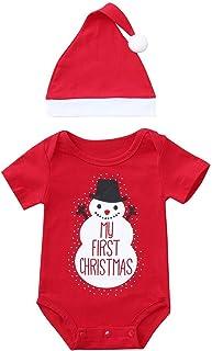 1e7307a404fb4 DAY8 Combinaison Noël Bébé Premier Noël Vêtements Bébé Fille Hiver  Barboteuse Bébé Garçon Naissance Automne Body