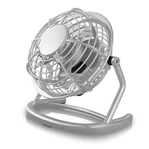 CSL - USB Ventilator - Tischventilator Fan Lüfter - optimal für den Schreibtisch inkl. An Aus-Schalter - kompatibel mit PC MAC Notebook - in grau