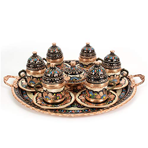 Handcraft Ideas 27-Piece Turkish Coffee, Espresso and Tea Set