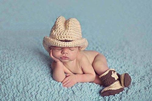 BABY COSTUME Costume de cowboy en crochet pour bébé Bottes Chapeau