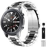 CAVN Cinturino Compatibile con Samsung Galaxy Watch 46mm / Galaxy Watch 3 45mm /Huawei GT 2 46mm Cinturino, 22mm Inossidabile di Ricambio in Metallo Donna da Uomo Cinturino per GT 2 /Honor Magic Watch