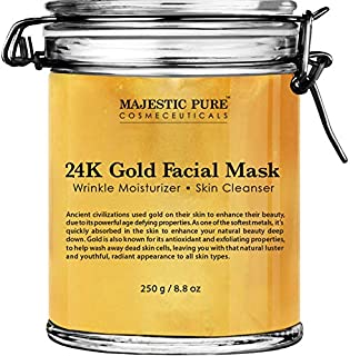 Majestic Pure Gold Facial Mask, Help Reduces the Appearances of Fine Lines and Wrinkles, Ancient Gold Face Mask Formula - ...