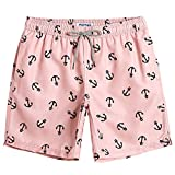 MaaMgic Mens Slim Fit Quick Dry Short Anchor Swim Trunks with...