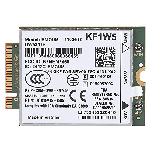 Yunir Wireless Replacement EM7455 for Dell DW5811e Qualcomm 4G LTE WWAN NGFF Card Module