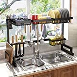 Over the Sink Dish Drying Rack, SAYZH Width Adjustable( Fit Small and Large...