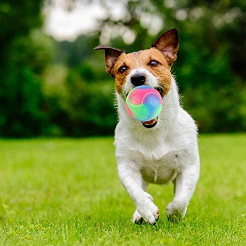 URFEDA Bola de Perro Brillante Pets Pelota de Juguete para Perros eléctrico...