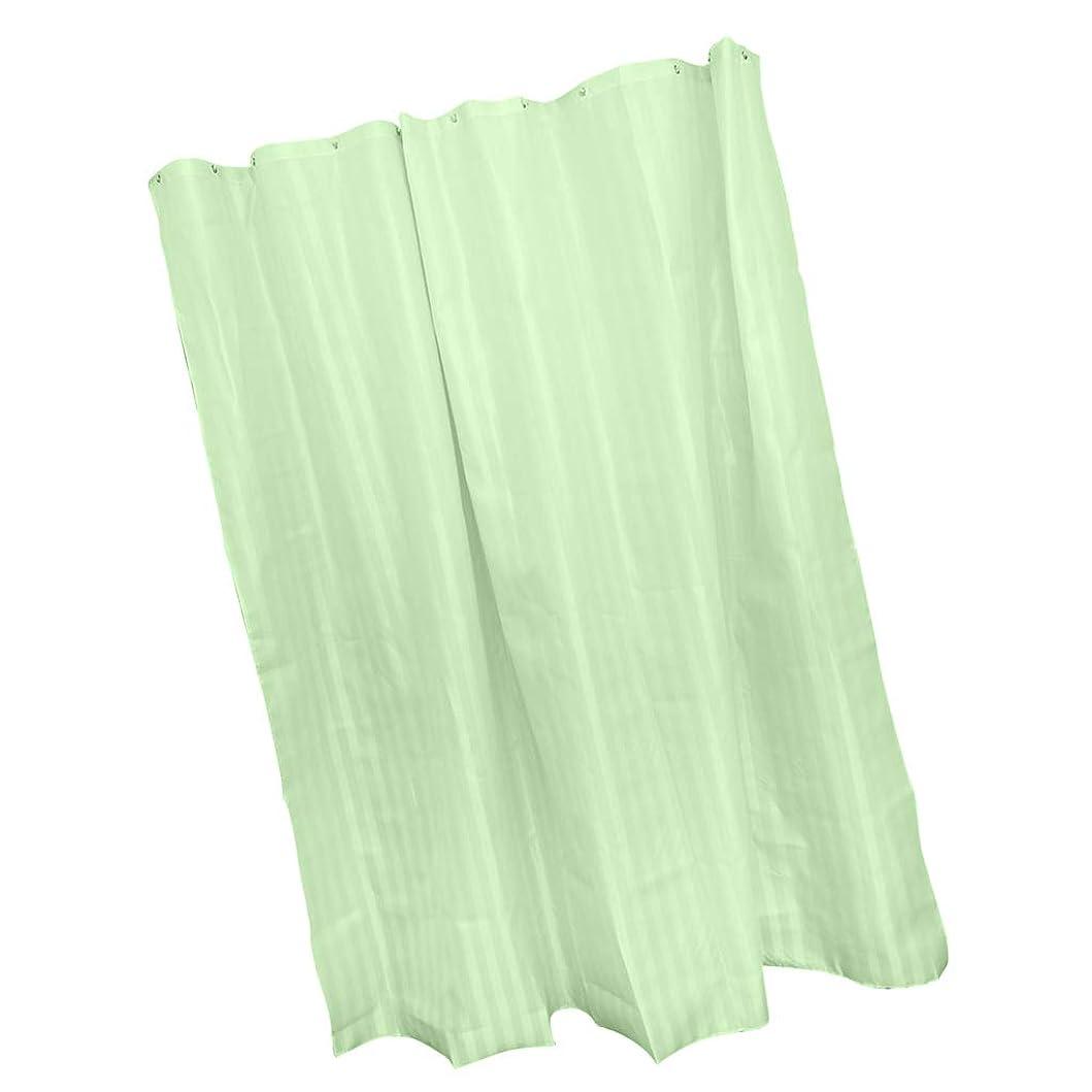 ラフ階層フォローシャワーカーテン バスカーテン 風呂カーテン 防水防カビ 間仕切り 保温 約180×180cm 全6色 - グリーン