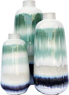 AFD Home 12013483 Green Sand Vase44; Multi Color - Set of 3