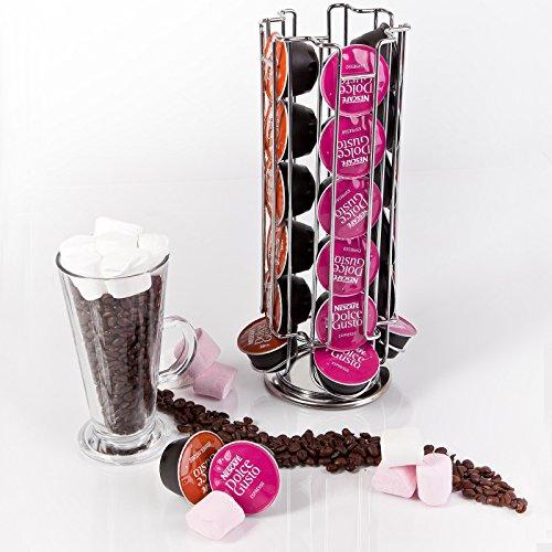 Kabalo Renouvelable et Rotatif Tour de 24 dosettes de café Capsule pour Dolce Gusto