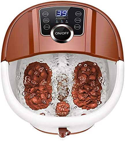 Foot Spa Bath with Heat and Massage and Bubbles Foot Bath Massager w 16 Motorized Shiatsu Rollers product image