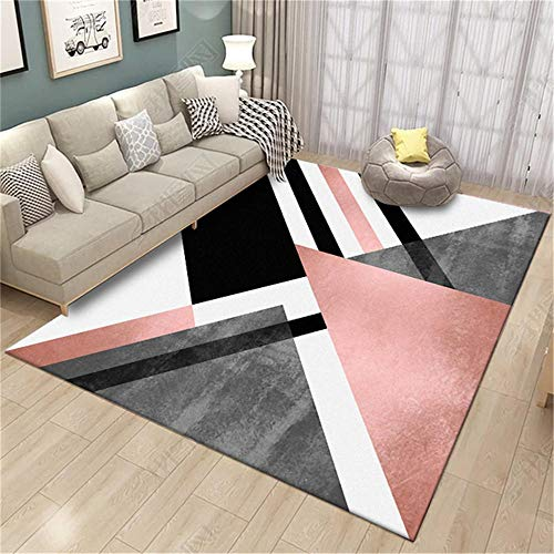 WQ-BBB Rug Game kitchen rug Black white gray pink big geometry home Designer Carpet easy to store dust-proof Carpet 160X230cm
