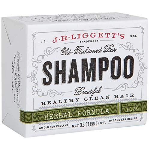 J·R·LIGGETT'S All-Natural Shampoo Bar, Herbal Formula - Supports Strong and Healthy Hair - Nourish Follicles with Antioxidants and Vitamins - Detergent and Sulfate-Free, One 3.5 Ounce Bar
