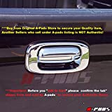 A-PADS Chrome Tailgate Handle Cover for Chevy Silverado [All Models] 1999-2006 + Classic 2007 - Without Keyhole