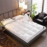 Espesar tatami estera almohadilla para dormir, colchón de piso japonés futón colchón, rollo plegable para, cama, dormitorio, colchón, almohadilla, suelo, copa de cama, sofás y sofás.,Blanco,120*200cm