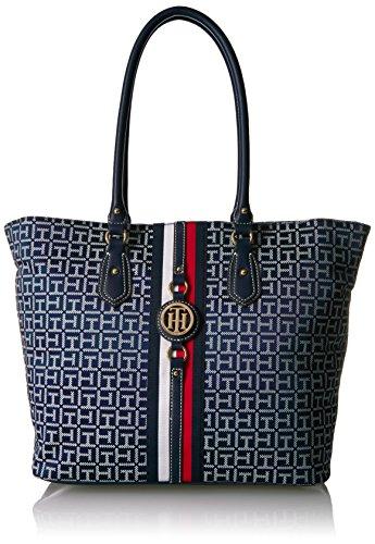Tommy Hilfiger Travel Tote Bag for Women Jaden, Navy/White