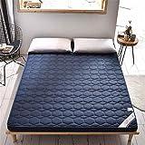 GAXQFEI Colchón de futón grueso de poliéster, antideslizante, suave, japonés, para dormitorio, dormitorio, dormitorio,...
