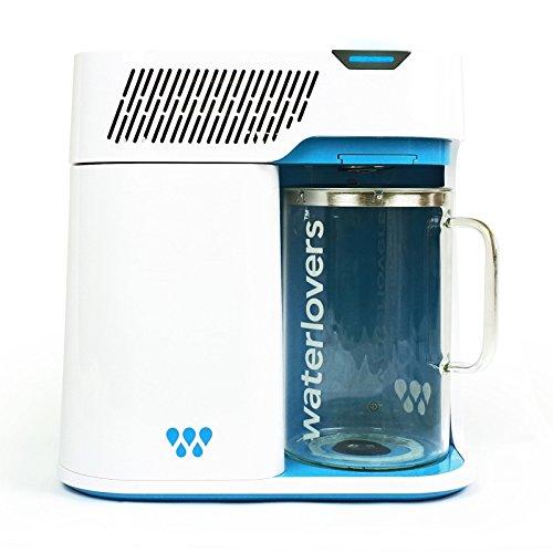 Waterlovers 2800 Wasserdestilliergerät mit Smart Technologie - Edelstahl Kocher und 2.8L Glaskanne (Weiß)
